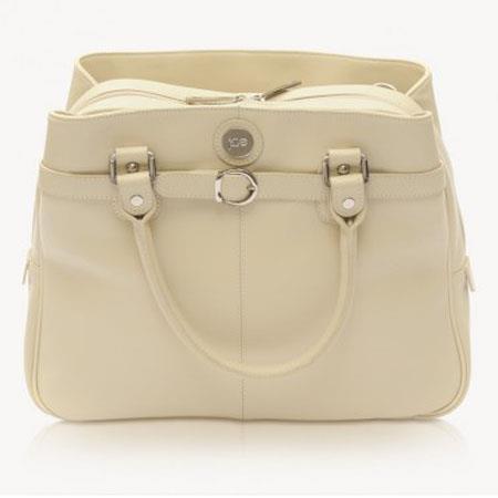 Jill e E GO Laptop Career Bag Leather Vanilla 83 - 588