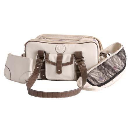 Jille Weatherproof Small Bone Leather Camera Bag Leather Croc Trim Exterior Velcro Divider Interior 66 - 454