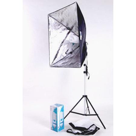 JTL One Light Fluorescent Portrait Kit W CFL Light StandSoftboHolder 41 - 507