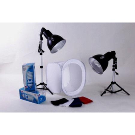 JTL Two light Fluorescent Light Tent Kit Two JTL Fluorescent W Bulbs Two Angle Adjustable Light Hold 113 - 155