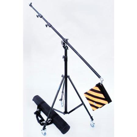 JTL Section Portable Light Boom Kit Deluxe Boom Stand and Carrying Case Casters Weight Bag 146 - 98