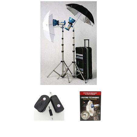 JTL DL Basic Verslight Light Kit Two E watt Second Monolights Stands Umbrellas Case Wheels Free Radi 87 - 272