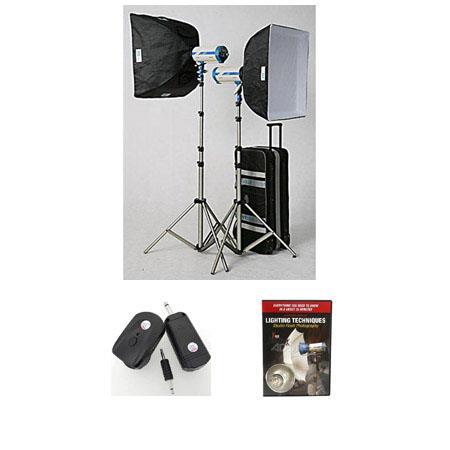 JTL DL Verslight Light Kit Two watt Second Monolights StandsSoft BoRing Case Wheels Free DVD Guide t 119 - 752