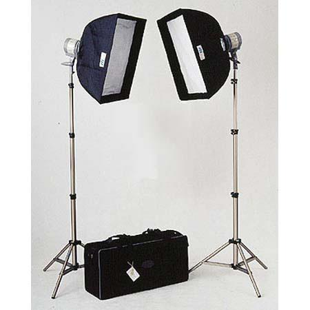 JTL DL Everlight Kit Two Watt Quartz Halogen Heads Stands Softboxes Connectors Carrying Case 129 - 663