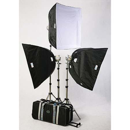 JTL TL Everlight Kit Everlights watt Bulbs Stands Soft Boxes Wheeled Case 418 - 49