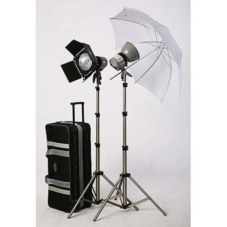 JTL HL Pro Light Kit Fan Cooled Superlights Two Watt Quartz Bulbs Light Stands Leaf Barn Door Reflec 63 - 419