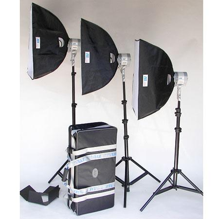 JTL TL Everlight Tungsten Light Kit Three Everlights HQ Bulbs Power Cables SoftBoxes Connectors Stan 296 - 411