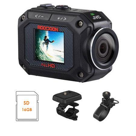 JVC GC XA ADIXXION Full HD Action Camera BUNDLE GB Class SDHC Card JVC Handle Bar Mount and JVC Roll 296 - 45