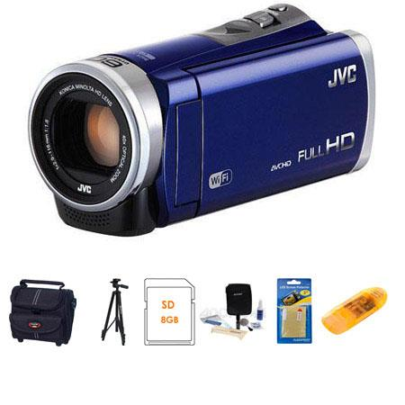 JVC GZ EX Full HD Everio Camcorder Blue Bundle Camcorder Case GB SDHC Card Lens Cleaning Kit Aluminu 118 - 587