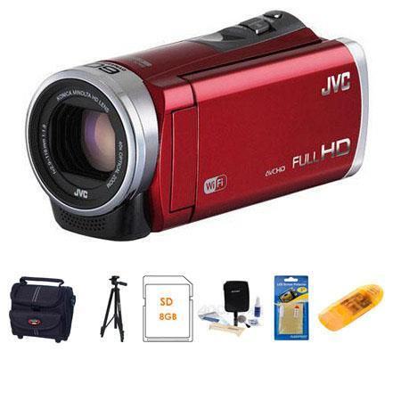 JVC GZ EX Full HD Everio Camcorder Bundle Camcorder Case GB SDHC Card Lens Cleaning Kit Aluminum Tri 61 - 436