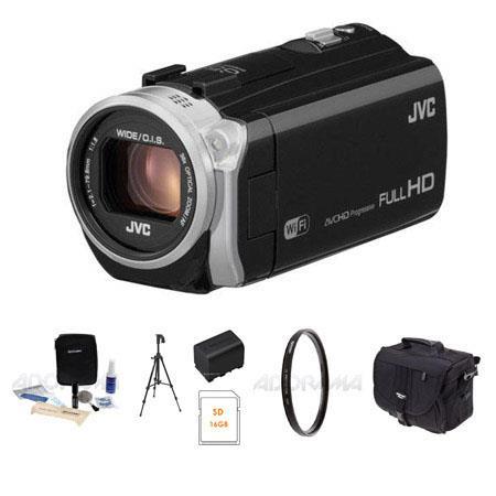 JVC GZ EX Full HD Everio CamcorderResolutionOptical _ Bundle Spare Battery Tripod Slinger Photo Vide 182 - 448