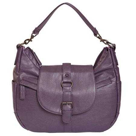 Kelly Moore B Hobo I Shoulder Style Small Camera Bag Removable Basket Lavender 88 - 733