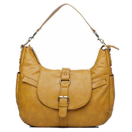 Kelly Moore B Hobo I Shoulder Style Small Camera Bag Removable Basket New Mustard 88 - 733