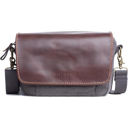 Kelly Moore Followell Shoulder Style Camera Bag CanvasBrown Trim 49 - 213