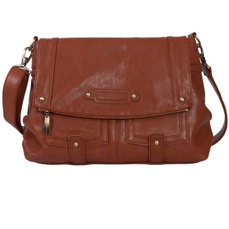 Kelly Moore Songbird Shoulder Bag Saddle Brown Holds DSLR Netbook More 106 - 608