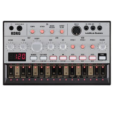 Korg Volca Analog Bass Machine Synthesizer Analog Bass Synthesis Analog Oscillators Memory Patches 230 - 759