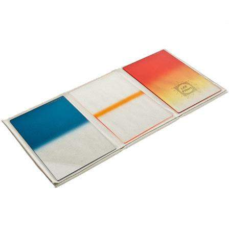 LeeSky Resin Graduated Hard Edge Filter Set Sunset Coral Stripe Sky Blue  106 - 262