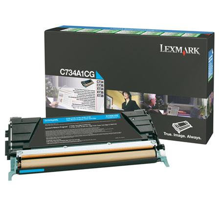 Lexmark CACG Cyan Toner Cartridge C C X Series Printers Pages Yield 76 - 446