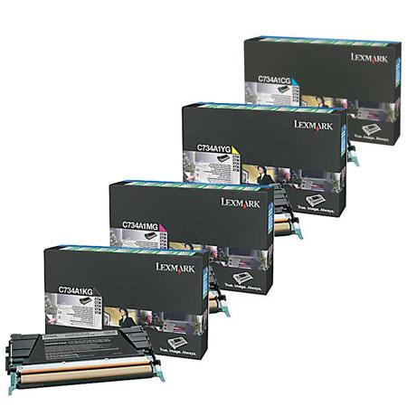 Lexmark Complete Color Toner Cartridge Set For C C X Series Printers 55 - 586
