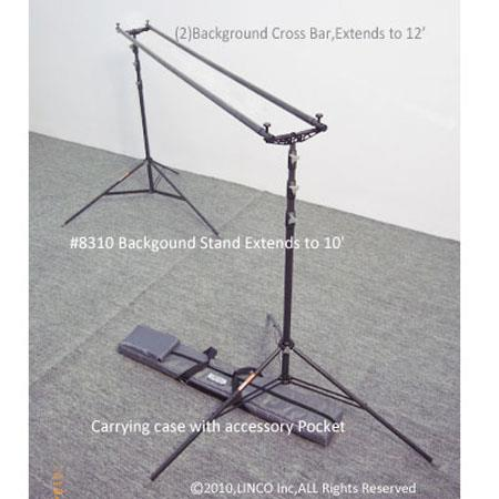 LincoPortable Freestanding Background Support Triple Mount  123 - 627