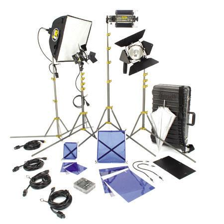 Lowel DV Creator Kit Analog Digital Video Lighting Location Kit TO Case 124 - 517