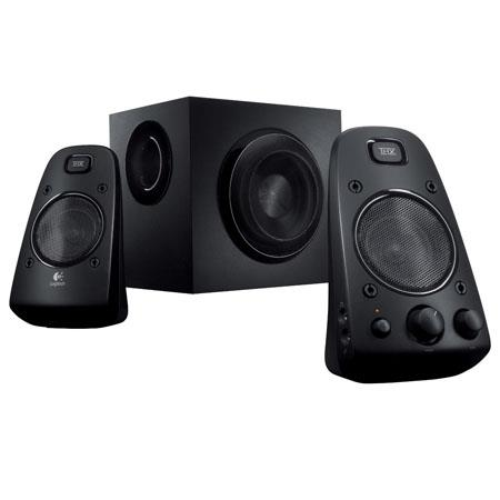 Logitech Z THX Certified Speaker System W RMS Power Headphone Jack Speaker Connector Cables 132 - 24