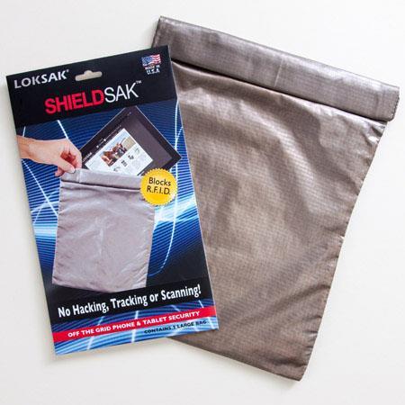 LokSak SHIELDSAK RF Scanning Protection Pouch TabletsSilver 350 - 18