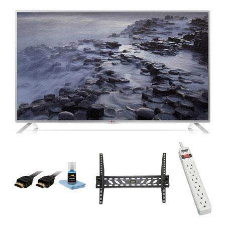 LG LB p LED Smart TV Bundle Xtreme Cables Steel Wall Mount Bracket Port Surge ProtectorHDMI Cables a 199 - 99