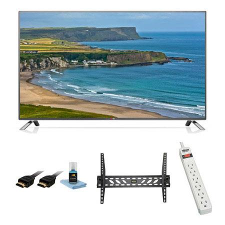 LG LB p LED Smart WebOS TV Bundle Xtreme Cables Steel Wall Mount Bracket Port Surge ProtectorHDMI Ca 115 - 304