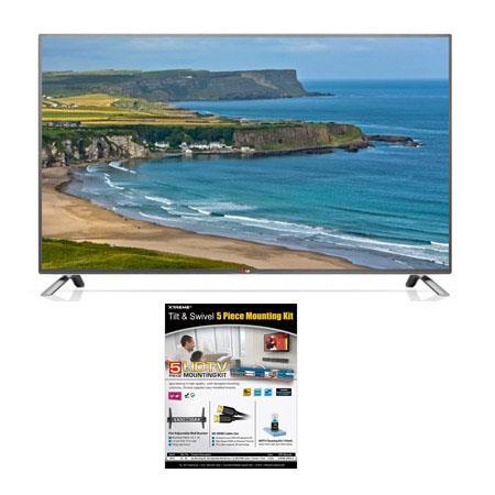 LG LB p LED Smart WebOS TV Bundle Xtreme Cables Tilt Swivel Wall Mount Kit Supplied Steel Wall Brack 132 - 29