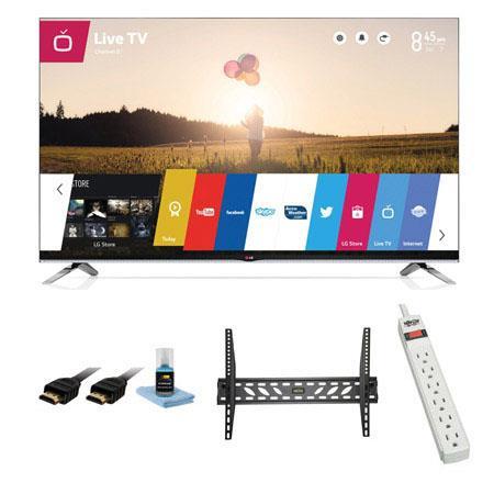 LG LB p Smart D WebOS LED TV Bundle Xtreme Cables Steel Wall Mount Bracket Port Surge ProtectorHDMI  62 - 706