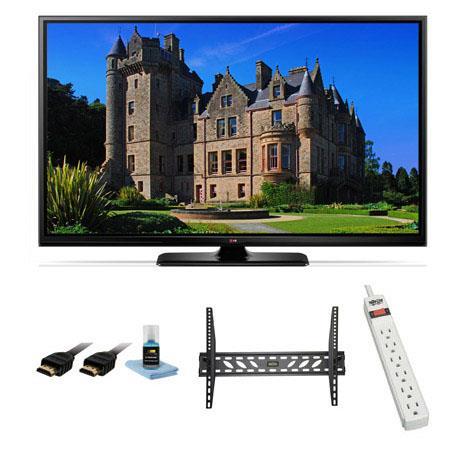LG PB p LED Smart TV Bundle Xtreme Cables Steel Wall Mount Bracket Port Surge ProtectorHDMI Cables M 350 - 198