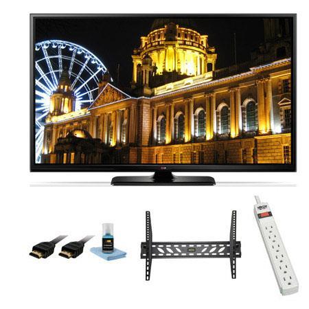 LG PB p Smart D Plasma TV Bundle Xtreme Cables Steel Wall Mount Bracket Port Surge ProtectorHDMI Cab 94 - 712