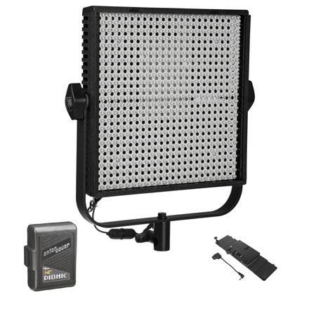 LitepanelsLS Bi Color Daylight to Tungsten LED Light Panel Bundle LPX AB Gold Mount Battery Adapter  63 - 263