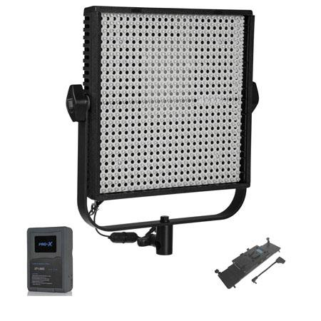 LitepanelsLS Bi Color Daylight to Tungsten LED Light Panel Bundle LPX V Mount Battery Adapter Plate  294 - 601