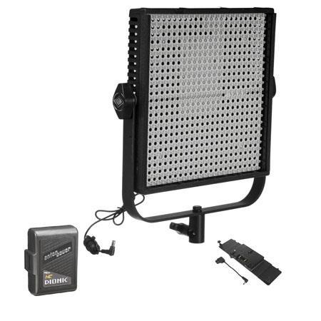 LitepanelsLS Daylight LED Panel Fixture Spot Bundle LP AB Gold Mount Battery Adapter Plate Anton Bau 264 - 798