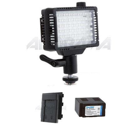 Litepanels Micro On Camera Dimmable K LED Video Light Bundle Adapter Plate Battery VBG Panasonic 334 - 283