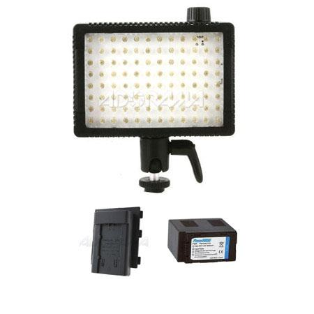 Litepanels MicroPro On Camera Dimmable K LED Video Light Bundle Adapter Plate Battery VBG Panasonic 103 - 695