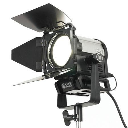 Litepanels Sola DMX Controllable LED Fresnel Yoke Power Supply and Barn Doors 552 - 78