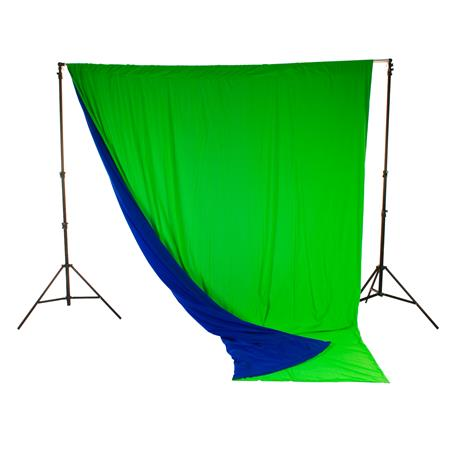 LastoliteChromakey Curtain Muslin Background Blue  6 - 543