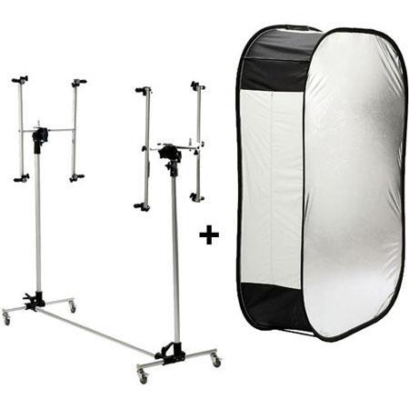 Lastolite MegaLitePortable Softboand Silver Reflective Panel Adjustable Support Stand 181 - 792