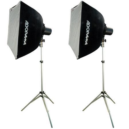 Adorama Budget Studio Monolight SoftboKit watt Second Budget Flashes Light Stands TwoSoftboxes 136 - 280