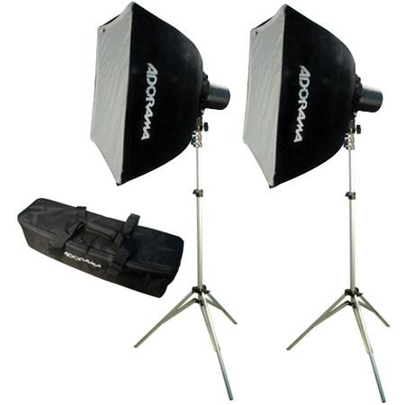 Adorama Budget Studio Monolight SoftboKit watt Second Budget Flashes Light Stands TwoSoftboxes Carry 298 - 19