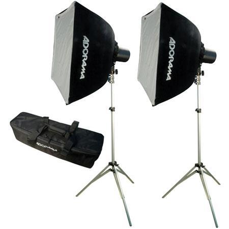 Adorama Budget Studio Monolight SoftboKit watt Second Budget Flashes Light Stands TwoSoftboxes Carry 11 - 425