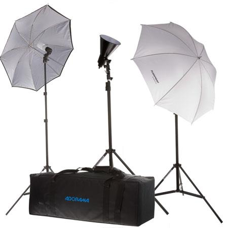 Flashpoint Light Fluorescent Outfit Stands Umbrellas Bulbs Reflector and Deluxe Case 286 - 31