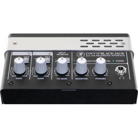 Mackie ONYX BLACKJACKUSB Recording Interface OnyMicrophone Preamps Phantom Power bitkHz 89 - 171