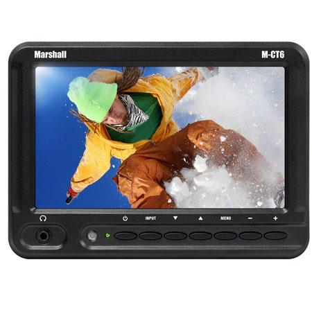 Marshall M CT Portable Camera Top Field Monitor Nikon EN EL Battery PlateNative Resolution HDMI VGAC 99 - 621