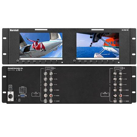 Marshall M LYNX Dual Rackmount Monitor Aspect Ratio cdm Contrast RatioHDMIG SDIComponentComposite 224 - 324