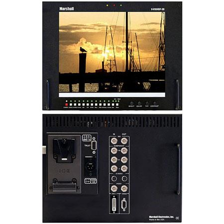 Marshall TFT MegaPixelT SDI Field Monitor Multiformat Inputs V mount Battery Adapter 150 - 260