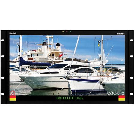 Marshall V R IMD GTE Rack Mount LCD Monitor G SDI and IMDResolution On Screen Audio Presence Indicat 80 - 594